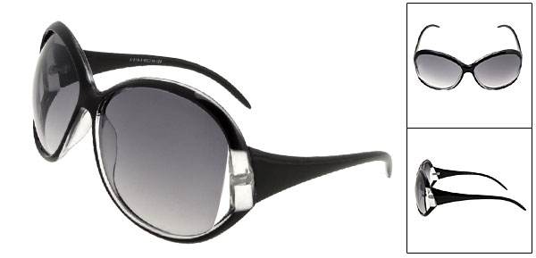 New Fashion Style Blue Lens Black Sunglasses