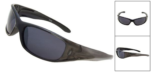 New Fashion Style Blue Lens Black Frame Sunglasses