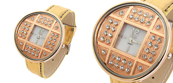 Fashion Jewelry Golden Copper Cash Ladies Wrist Quartz Watches