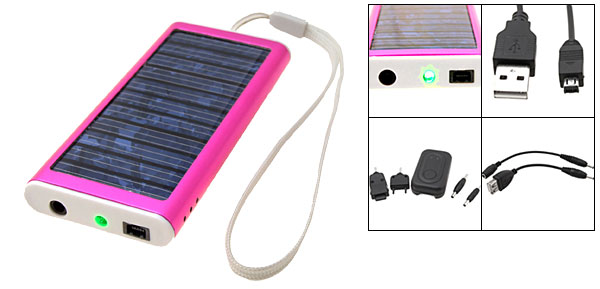 Peachblow Emergency Solar Charger for Cell Phone PDA MP3 MP4