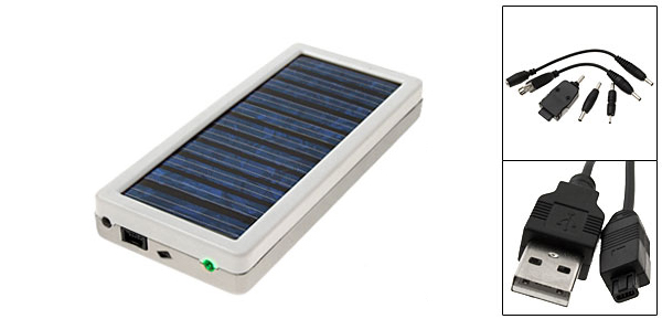 White Emergency Solar Charger for Cell Phone