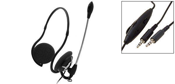 Cool 3.5mm Stereo PC Computer Headset Headphone Microphone
