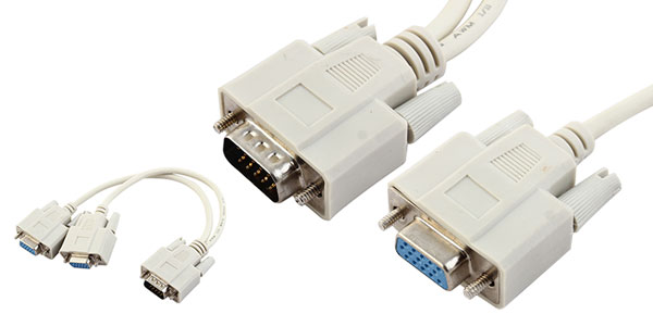 2 Monitor to 1 PC VGA HD15 Y Splitter Cable Adapter