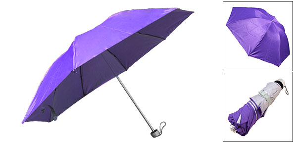 Children Kids Canopy Folding Rain Purple Sun Umbrella