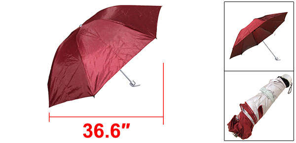 Children Kids Canopy Folding Rain Scarlet Sun Umbrella