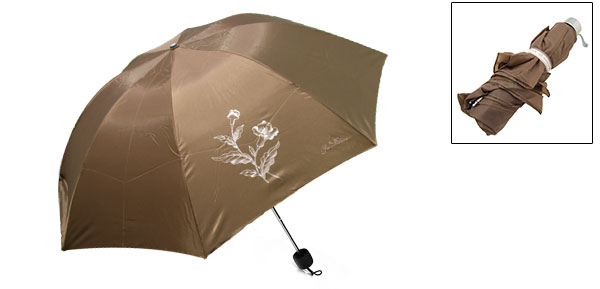New Coffee Canopy Folding Rain Sky Umbrella