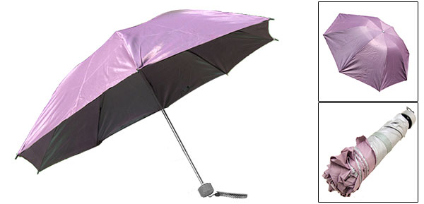 Children Kids Canopy Folding Rain Fuchsia Sun Umbrella