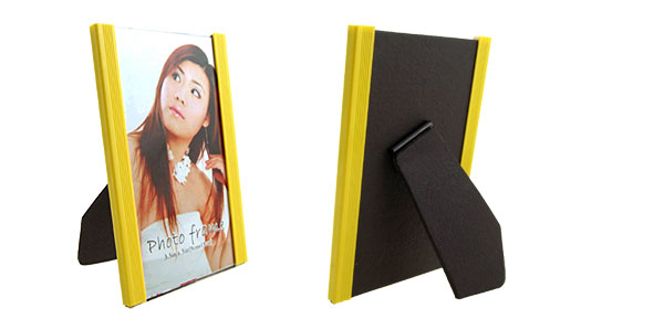 3.5 x 5 Inch Plastic Yellow Vertical Photo Frame