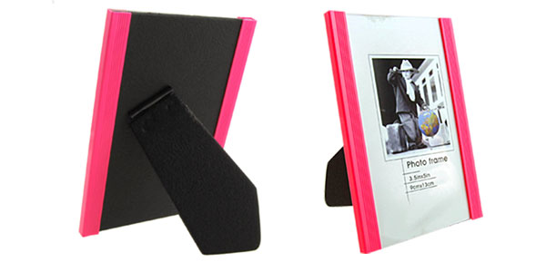 3.5 x 5 Inch Pink Vertical Plastic Photo Frame