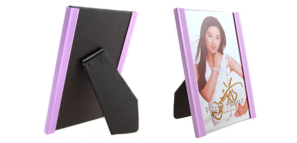 3.5 x 5 Inch Plastic Purple Vertical Photo Frame