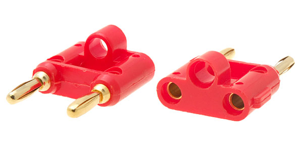 Banana Plug Gold Speaker Dual Connector for Audio