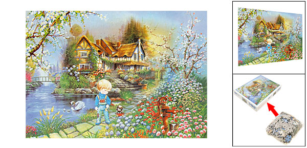 Toys 500 Pieces Garden Scenery DIY Jigsaw Puzzles