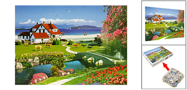 Toys - Educational 500 Pieces Villa Scenery DIY Jigsaw Puzzles