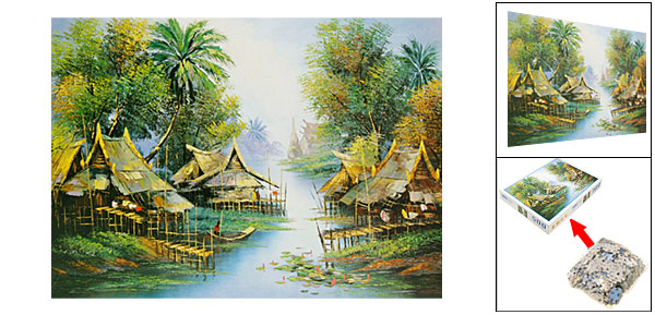 Toys - Educational 500 Pieces Thailand Scenery DIY Jigsaw Puzzles
