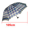 Men\'s Checked Canopy Folding Rain Sun Umbrella