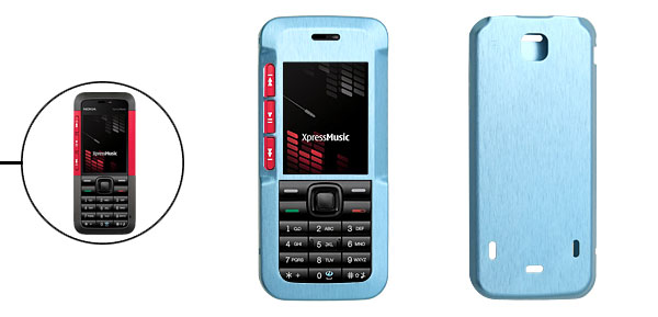 Blue Luxury Aluminum Metal Case Skin for Nokia 5310