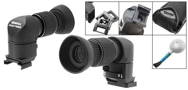 1-2X Right Angle View Finder for Nikon Canon Pentax Leica