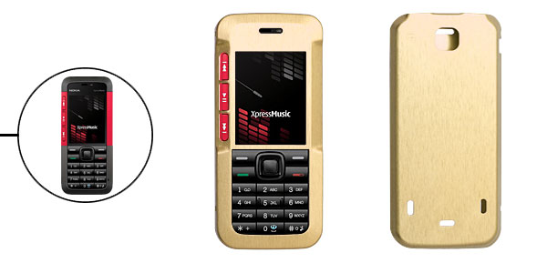 Golden Luxury Aluminum Metal Case Skin for Nokia 5310