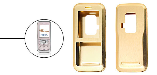 Brand New Luxury Aluminum Metal Case Skin for Nokia 6120 Golden
