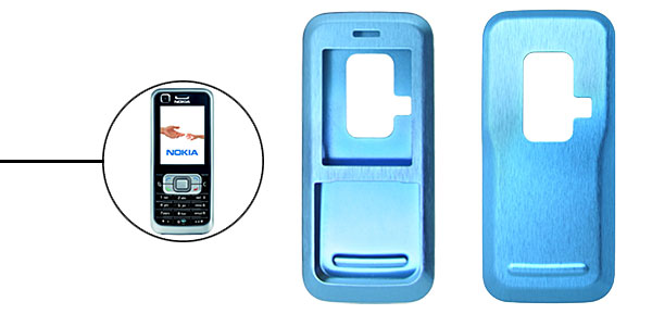 Brand New Luxury Aluminum Metal Case Skin for Nokia 6120 Blue