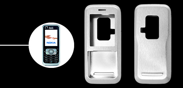 Brand New Luxury Aluminum Metal Case Skin for Nokia 6120 Silver