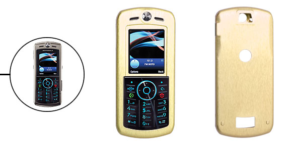 Slim Aluminum Metal Case Skin for Motorola L9 Golden