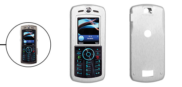 Slim Aluminum Metal Case Skin for Motorola L9 Silver