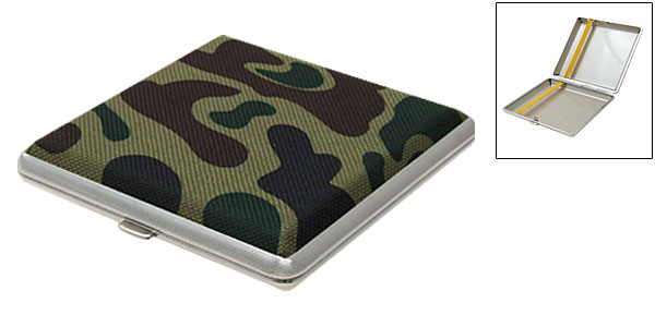 Vintage Camouflage 20 Cigarettes Box Case Holder