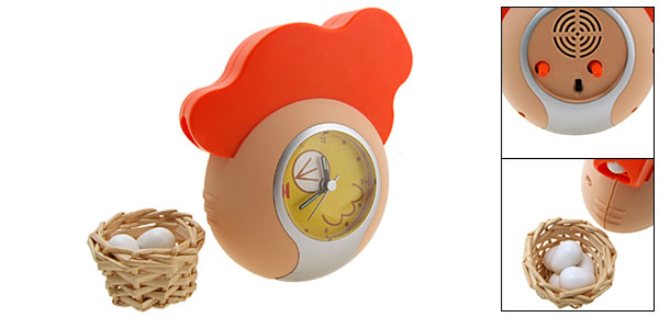 Egg Laying Hen Chicken Alarm Clock