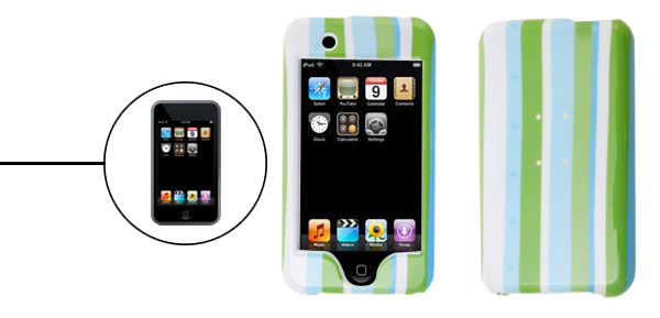 Candy Strip Plastic Case Hard Cover for Apple iPod Touch 1st Generation