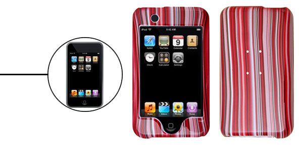 New Curtain Red Plastic Protector Hard Case for iPod Touch 1st Generation