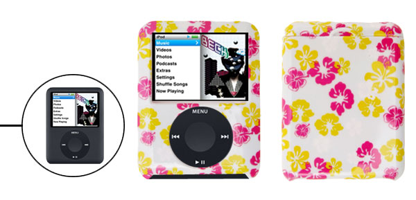 Flower Design Plastic Case Hard Cover for Apple iPod Nano 3RD Gen 3G
