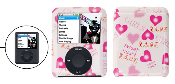 Heart Design Hard Plastic Case Cover for iPod Nano 3RD Gen 3G