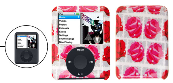 Fashion Rose Hard Plastic Case Cover for Apple iPod Nano 3RD Gen 3G