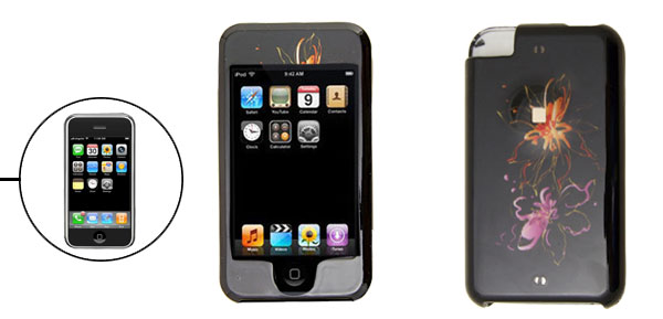 Plastic Hard Cover Case for Apple iPod Touch Black 1st Generation