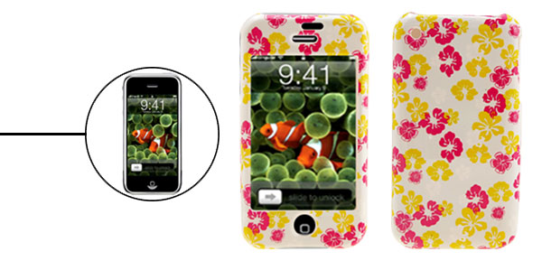 Stylish Flower Design Hard Plastic Case Cover for Apple iPhone 1st Generation