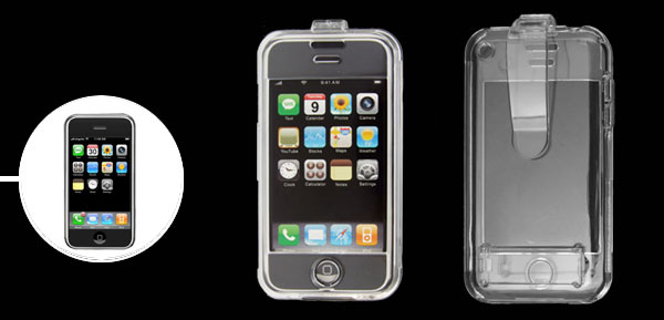 Clear Crystal Clip Plastic Hard Case for Apple iPhone 1st Generation 1st Generation