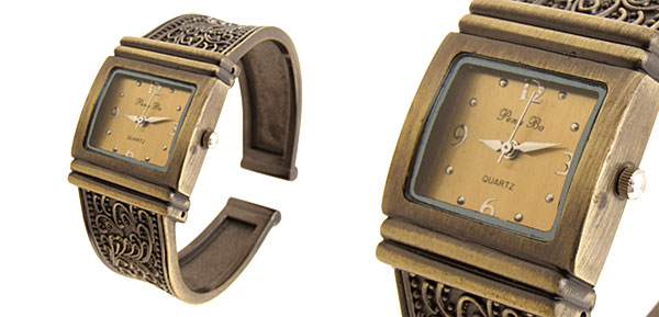 Fashion Womens Carven Brass Bracelet Bangle Watch