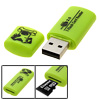 Green 480Mbps USB 2.0 Memory Card Reader Writer