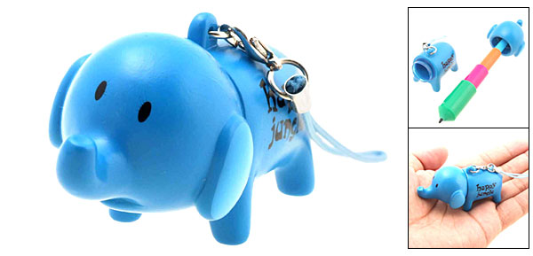 Cute Elephant Retractable PDA Pen Phone Strap String