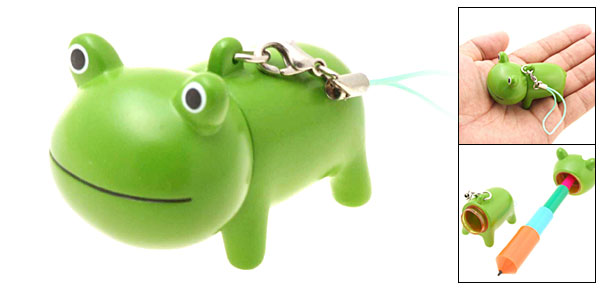 Frog Retractable Key Chain PDA Pen Phone Strap String