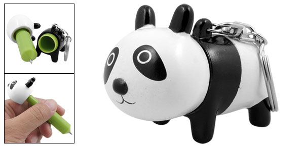 Cute Panda Key Chain Retractable Ball Point Pen
