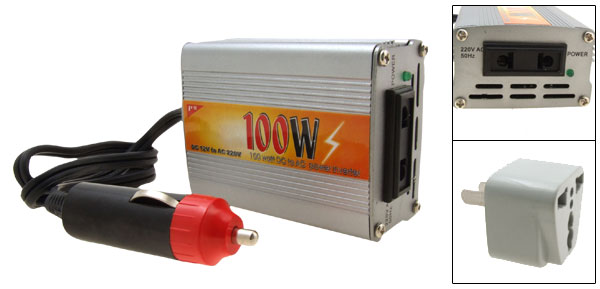 New 100W Car DC 12V to AC 220V Power Inverter 100 Watt