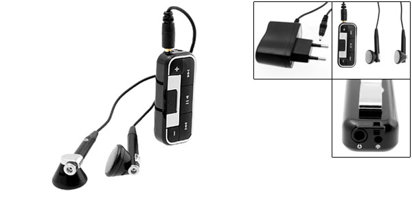 EU Plug 100V-240V Bluetooth Wireless Headset Earphone for Cell Phone PDA PC