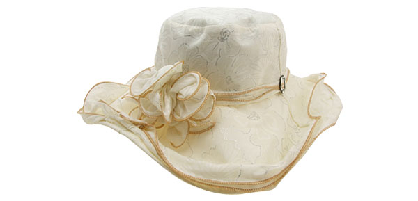 Gorgeous Summer Floppy Wide Brim Cap Beach Sun Hat White