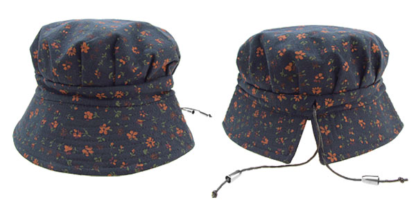 Beautiful Vintage Ladies Bucket Style Hat Sun Cap Flower Design