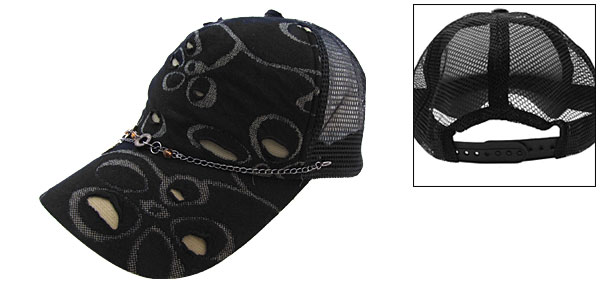 Cool Mesh Cap Trucker Hat Men Women Baseball Sun Visor Black