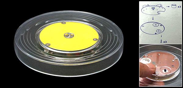 Round Plastic Illuminant Flash Cup Mat Pad Coaster