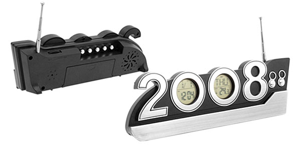 Multifunction 2008 Time Alarm Clock Radio Calendar Thermometer