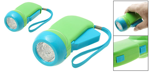 5 LED Green Hand Press Battery Free Torch Flashlight